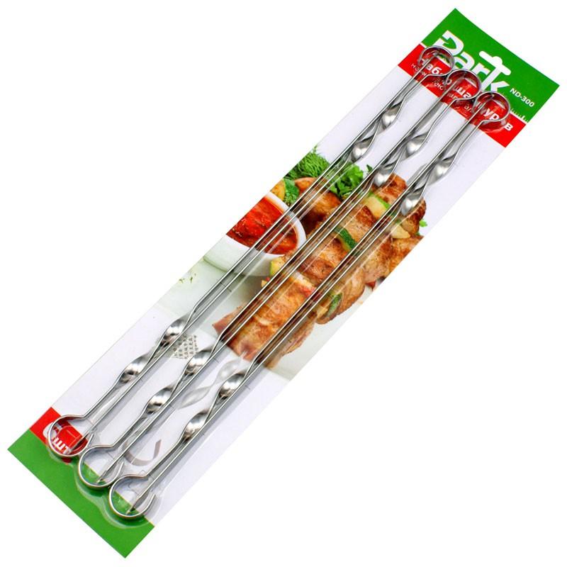 Набор шампуров 6шт.прям. нерж. 45см. ND-300 Park